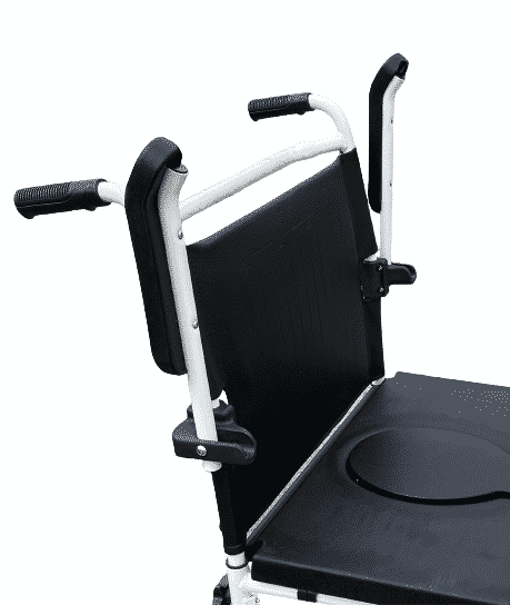 Oversized transfer commode chair with adjustable arm rests