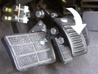 Mini Stamp pedal extension available for manual and automatic vehicles